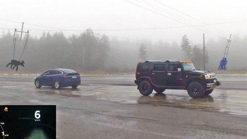 Hummer vs Tesla Model X