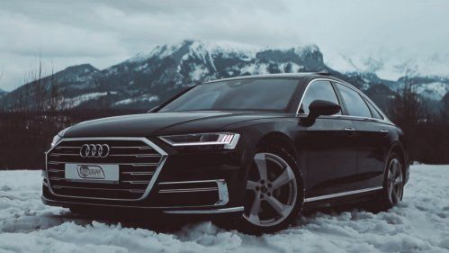 audi a8 50 tdi quattro in the snow