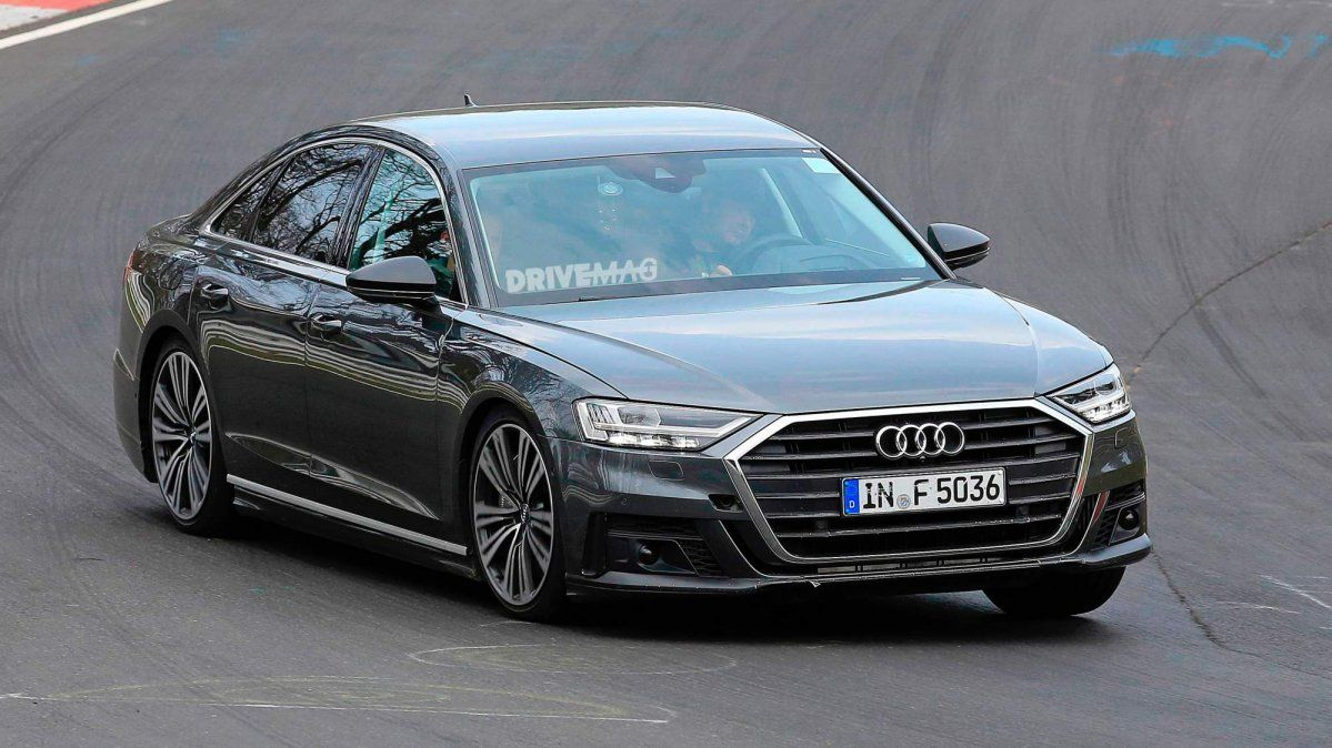 2019 Audi S8 Spied Without Camouflage During Nurburgring