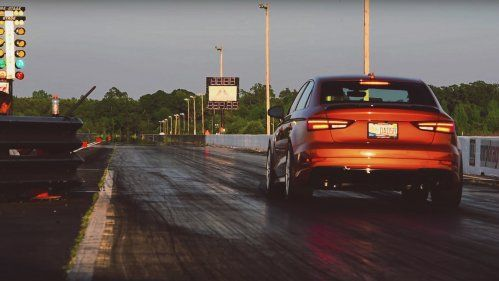 apr audi rs3 drag racing