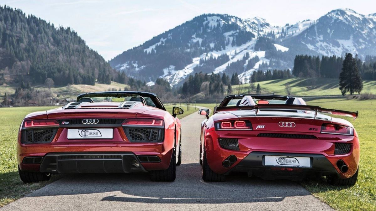 Audi R8 Rws Spyder Meets R8 Abt Gt S In Picture Perfect Car Bromance