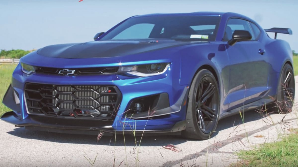 Watch Hennessey Take The Camaro Zl1 1le Exorcist For A Spin
