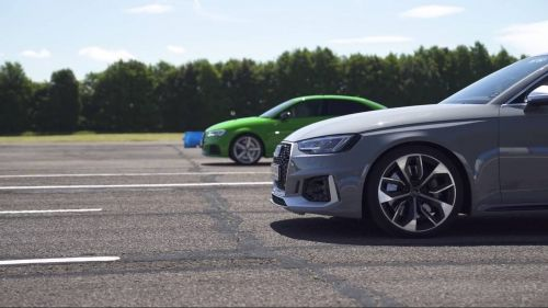 2018-Audi-RS4-Avant-vs-2018-Audi-RS3-Sedan-drag-race