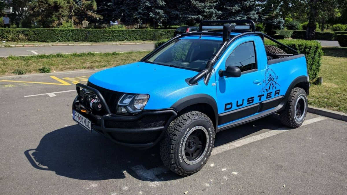 rare dacia duster pickup gets off road makeover. Black Bedroom Furniture Sets. Home Design Ideas