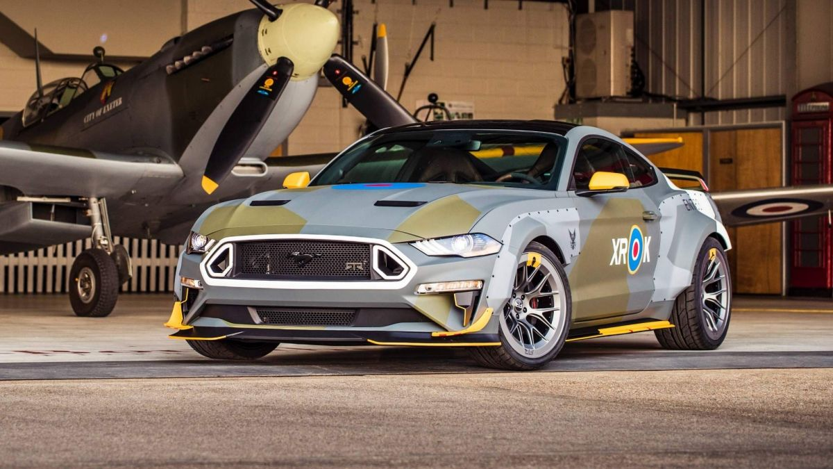 Ford performance unveils 700 hp eagle squadron mustang gt at