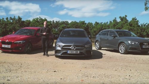 mercedes-benz a class vs bmw 1 series vs audi a3