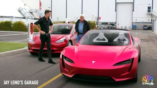 Tesla Roadster tested by Jay Leno