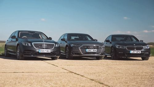 audi a8 mercedes-benz s-class bmw 7 series