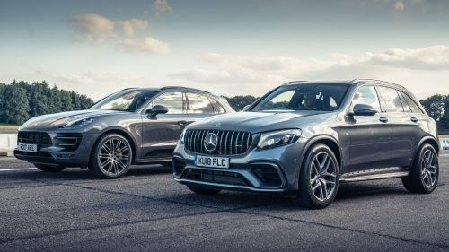 merc-amg glc 63 s vs porsche macan turbo