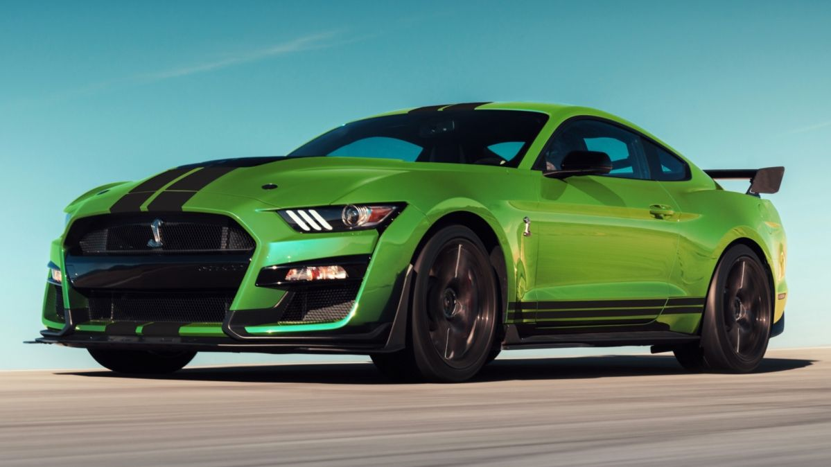 2020 Ford Mustang bags Grabber Lime body paint